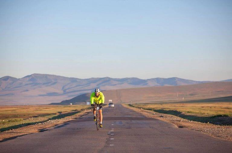 Meet the man trying to cycle the world in 80 days