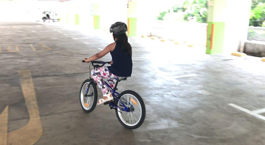 My daughter learned cycling in 2 days