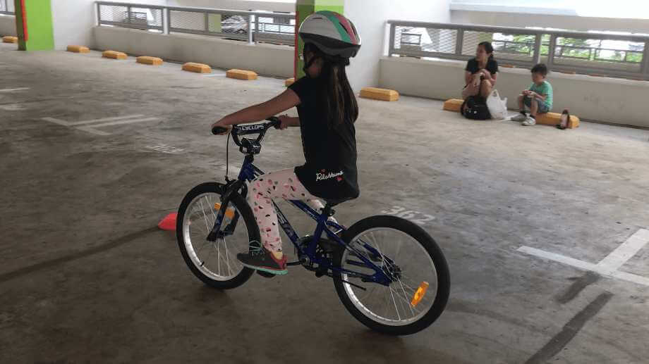 All he takes is 2 lessons n my girl is happily cycling on 2 wheels.